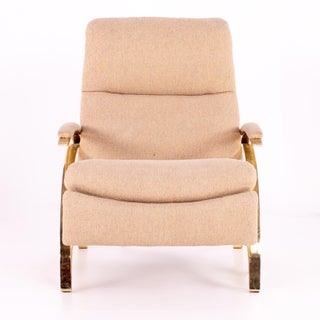 Mid Century Brass Z Reclining Lounge Chair Preview
