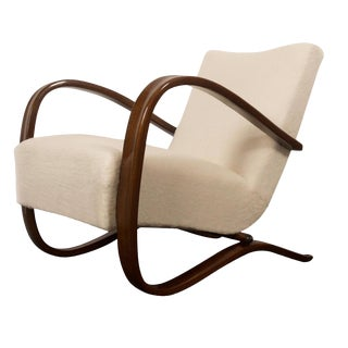 Art Deco Thonet H269 Armchair by Jindrich Halabala For Sale