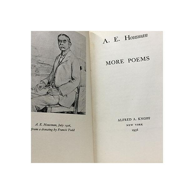 Traditional More Poems by A. E. Housman 1936 For Sale - Image 3 of 4