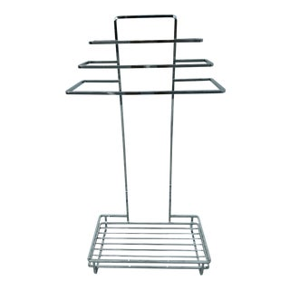 1970's Three Tiered Towel Stand, Chrome For Sale