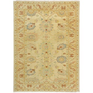 "Turkish Ushak Hand-Knotted Rug-6'2"" X 8'6"" For Sale"