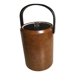 1970s Faux Leather Morgan Ice Bucket For Sale
