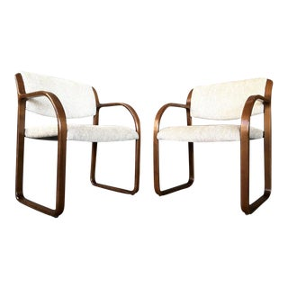 Danish Style Mid-Century Armchairs by Steelcase - A Pair