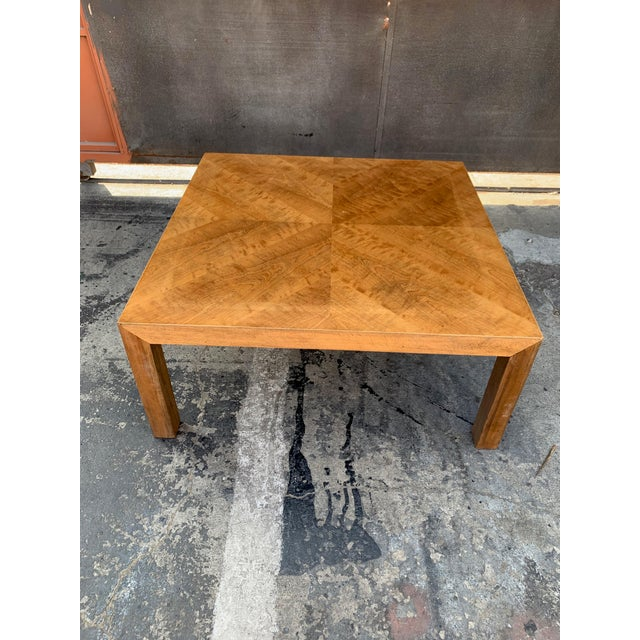 Mid Century Modern Parquet Wood Coffee Table For Sale - Image 11 of 11