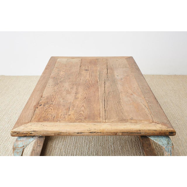 Monumental Weathered Pine Coffee Cocktail Table For Sale - Image 12 of 13