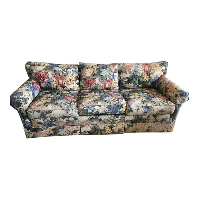 Antique Floral Sofa For Sale