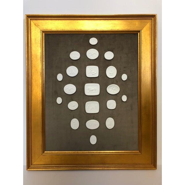 Collection of Framed Plaster Intaglios For Sale - Image 9 of 10