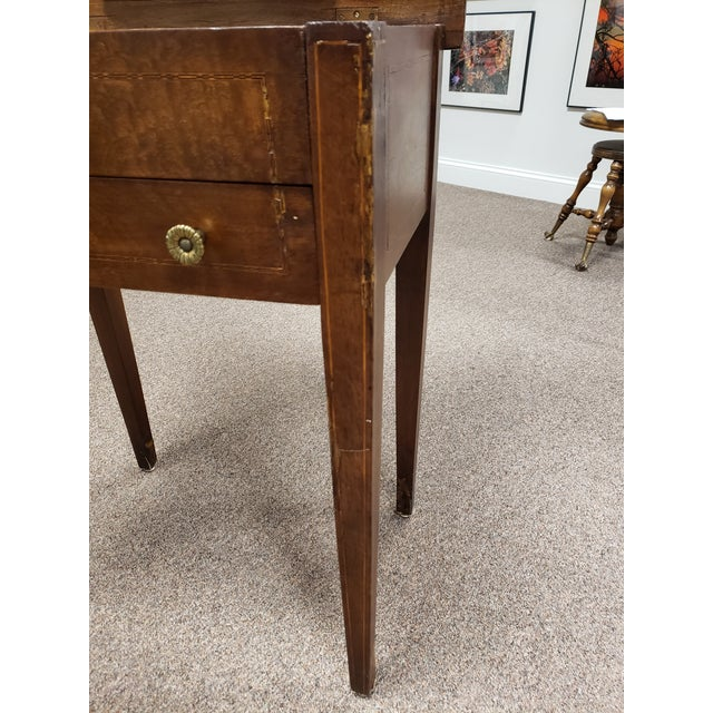 Antique 19th Century Inlaid Wooden Dressing/Vanity Table For Sale - Image 4 of 13