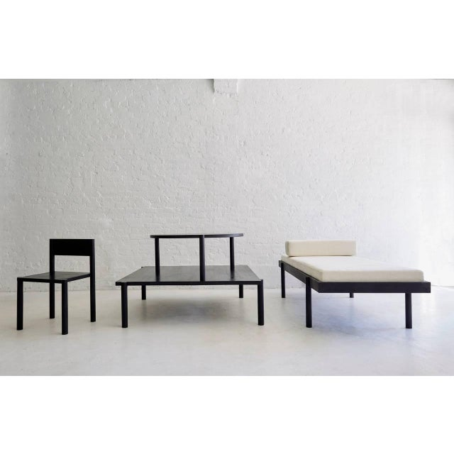 Wc2 Daybed by Ash Nyc in Black Oak For Sale In New York - Image 6 of 7