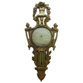 Louis XVI Painted and Giltwood Barometer For Sale