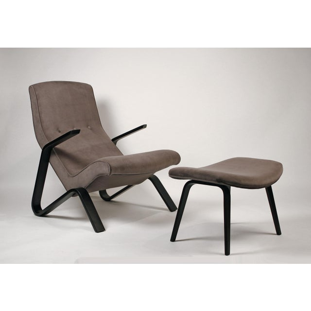 Knoll International Pair of Early Eero Saarinen Grasshopper Chairs for Knoll With Rare Black Frames For Sale - Image 4 of 10