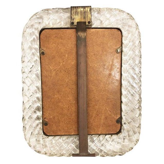 Venini Venini Murano Glass Picture Frame For Sale - Image 4 of 5