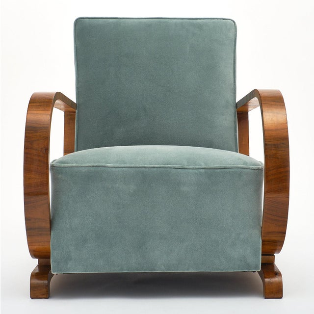 Art Deco Austrian Armchairs For Sale In Austin - Image 6 of 11
