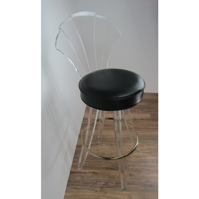 1970s Vintage Charles Hollis Jones Style Lucite Bar Stool For Sale In Chicago - Image 6 of 13
