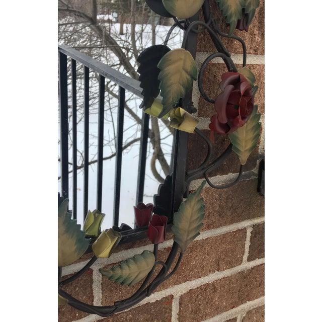 Bronze Framed Rose & Vine Mirror - Image 3 of 10