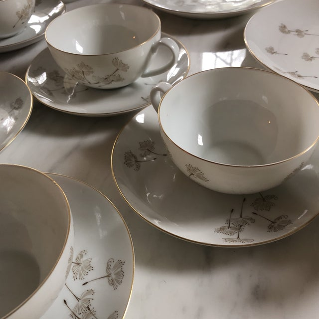 Ceramic Porcelain Schonwald Dandelion Tea Cups Set - Set of 32 For Sale - Image 7 of 11