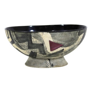 Postmodern Art Studio Ceramic Bowl For Sale