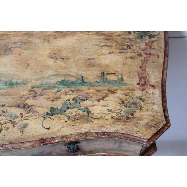 Mid 18th Century Italian Painted Two Drawer Commode For Sale - Image 10 of 13