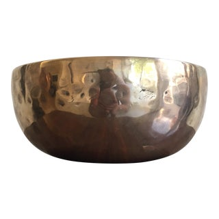 1970s Handmade Bronze Modernist Vessel