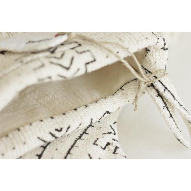 White Mudcloth Christmas Stocking - Image 5 of 6