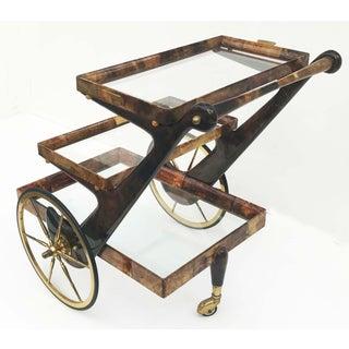 Aldo Tura Goatskin and Lacquer Bar Cart Preview