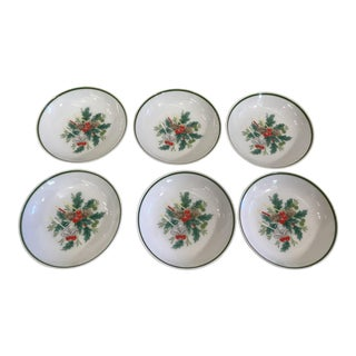 Noritake Holly Holiday Coasters - Set of 6 For Sale
