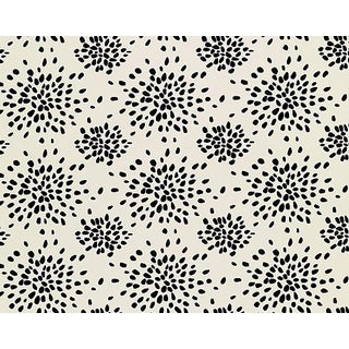 Hinson for the House of Scalamandre Fireworks Wallpaper in Black on Off-white For Sale