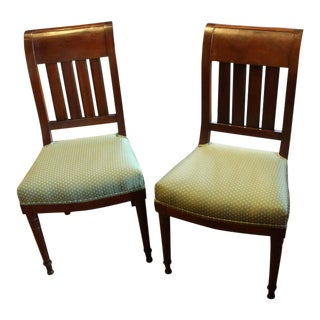 19th Century French Mahogany Side Chairs- A Pair For Sale