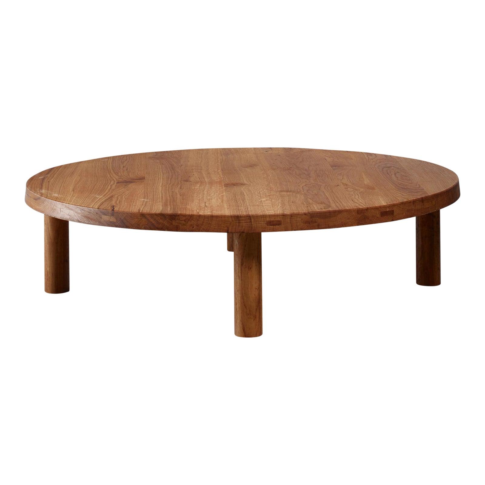Distinguished Rare Large Pierre Chapo Oak Coffee Table 127 Cm50