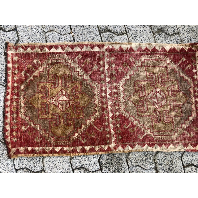 Vintage Anatolian Traditional Decorative Wool and Cotton material Handmade Floor Rug