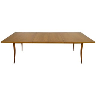Harvey Probber Saber Leg Table in Bleached Mahogany For Sale