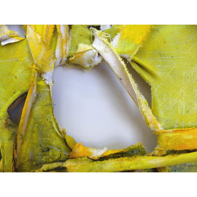 """Alfredo Ulloa """"Pierre (Yellow #1)"""" Abstract Painting - Image 2 of 8"""