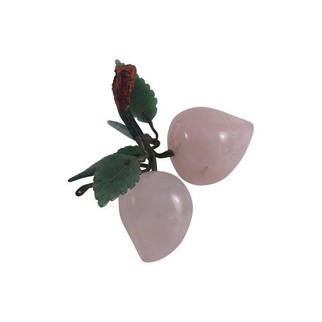 Rose Quartz And Jade Stone Fruit Apricots - Image 1 of 5