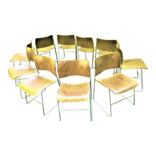 Mid Century David Rowland 40/4 Stackable Chairs - Set of 10 For Sale