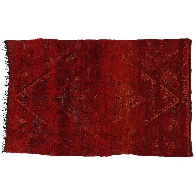 Vintage Berber Red Moroccan Rug 6 x 9 - Image 1 of 4