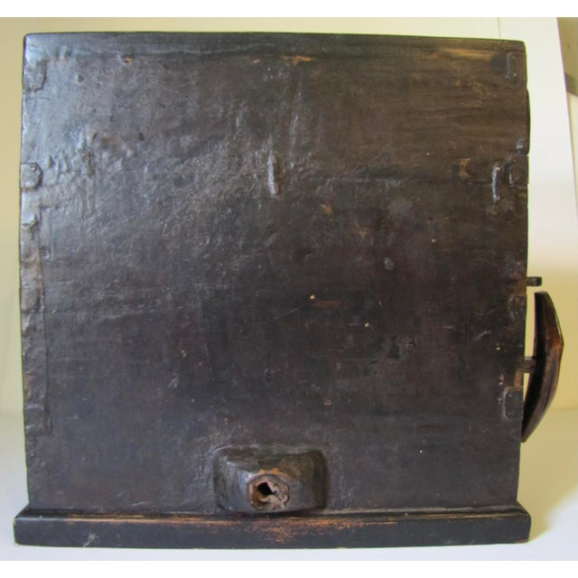 Wood 1910s Black Wooden Chinese Bellows Box For Sale - Image 7 of 9
