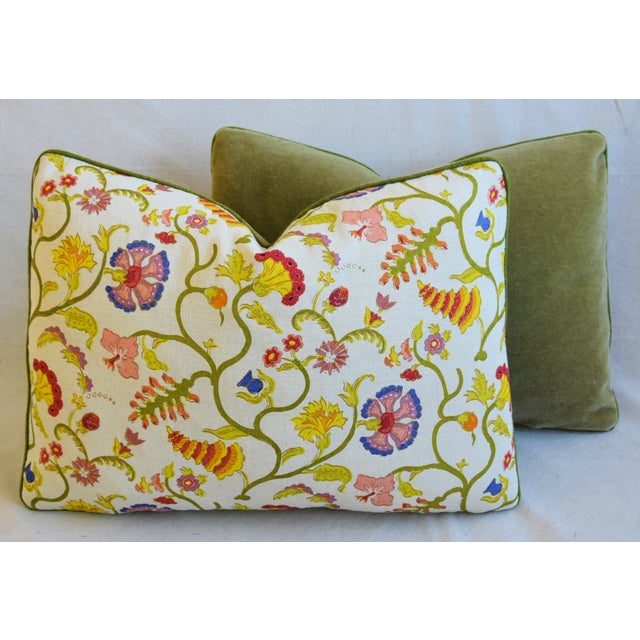 """Designer Floral Raoul & Scalamadre Mohair Pillows 23"""" X 16"""" - Pair For Sale - Image 11 of 13"""