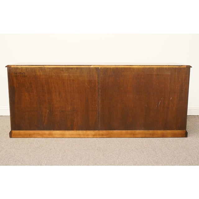 """Sligh Furniture Solid Cherry Chippendale 74"""" Double File Cabinet Credenza For Sale - Image 11 of 13"""