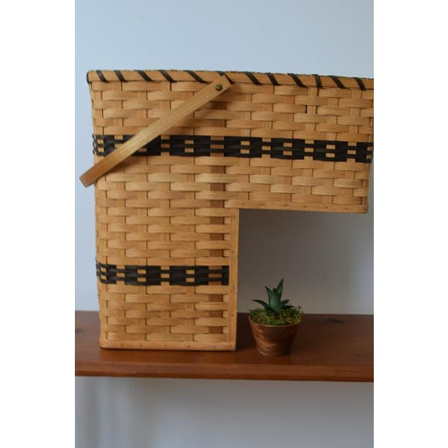 20th Century Country Amish Stair Step Basket For Sale - Image 10 of 11