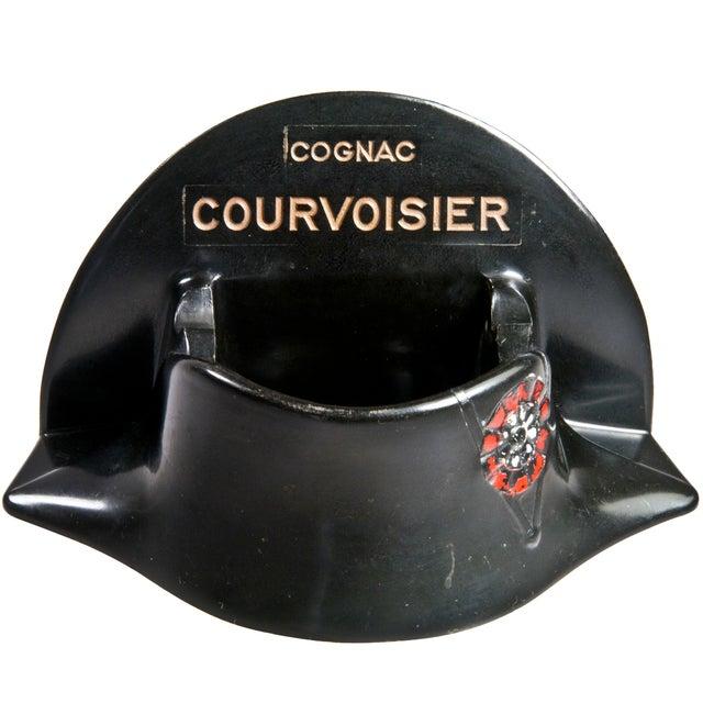 French Courvoisier Bakelite Bicorne Hat Ashtray - Image 1 of 4