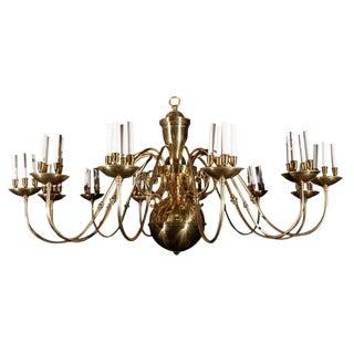 1930s American Brass 48 Light Chandelier For Sale