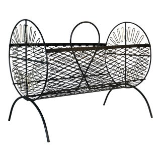 1960s Round Wire Magazine Rack For Sale