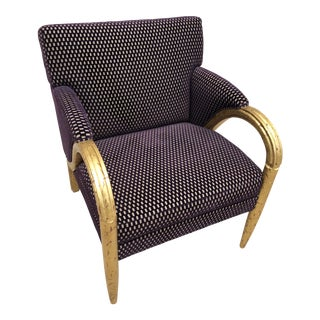Larry Laslo for Directional Purple Velvet Decorator Club Chair For Sale