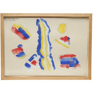 Vintage 20th Century Abstract Watercolor by Max Bernard, American