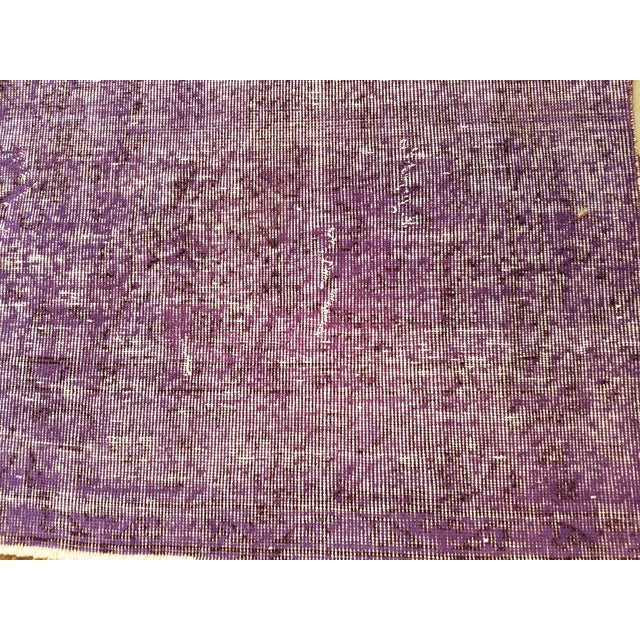 """Shabby Chic Vintage Turkish Anatolian Overdyed Hand Knotted Organic Wool Fine Weave Rug,6'8""""x10'3"""" For Sale - Image 3 of 5"""