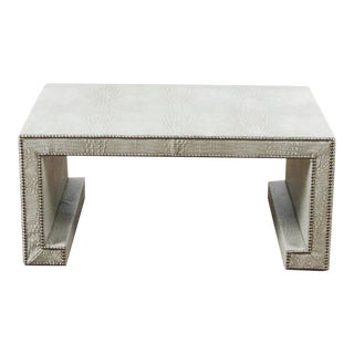 Contemporary Wayley Faux Crocodile Skin Cocktail Table For Sale