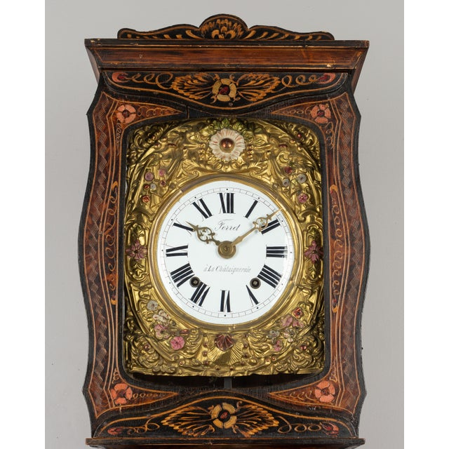 19th Century French Comtoise Grandfather Clock For Sale - Image 9 of 12