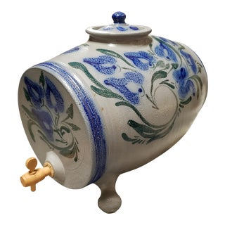 Early 20th Century French d'Alsace Betschdorf Salt Glaze Stoneware Water Cooler For Sale