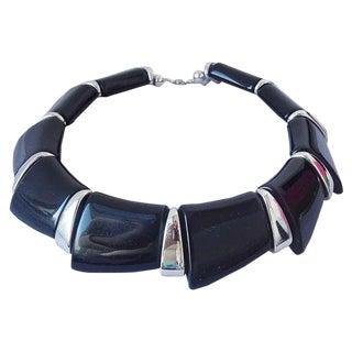 Napier Book Piece Collar Necklace, 1988 For Sale