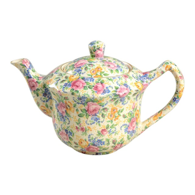 James Kent Rosalynde Chintz 4 Cup Teapot & Lid For Sale